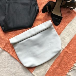 LUPO BARCELONA Leather Roll Top Clutch